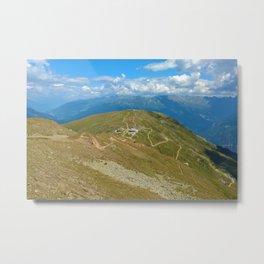 fisser yoke alps panorama serfaus fiss ladis tyrol austria europe Metal Print