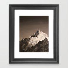 Mountain Painting Framed Art Print