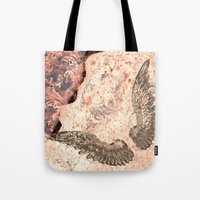 angel wings Tote Bags featuring Angel wings by Dominique Gwerder