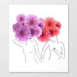 La féminité Canvas Print