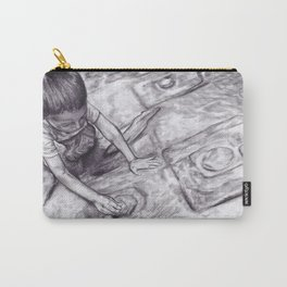 Boy With A Coin Carry-All Pouch