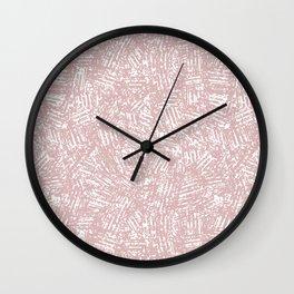 crisscross-pink Wall Clock