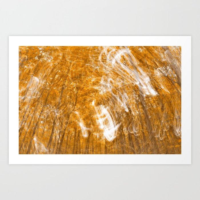 Golden Banshee Forest Art Print