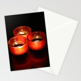Candles in the dark Stationery Cards