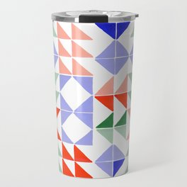 Color Triangles Travel Mug