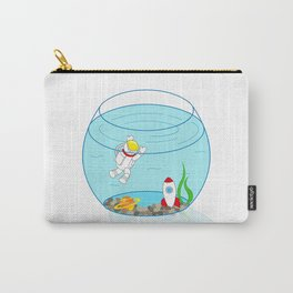 Space Fishbowl | Astronaut Fishbowl | Swimming Astronaut | Space in a Fishbowl | pulps of wood Carry-All Pouch