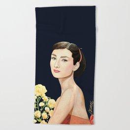 les temps doux  Audrey Beach Towel