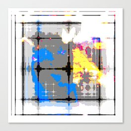 glitch abstract Canvas Print