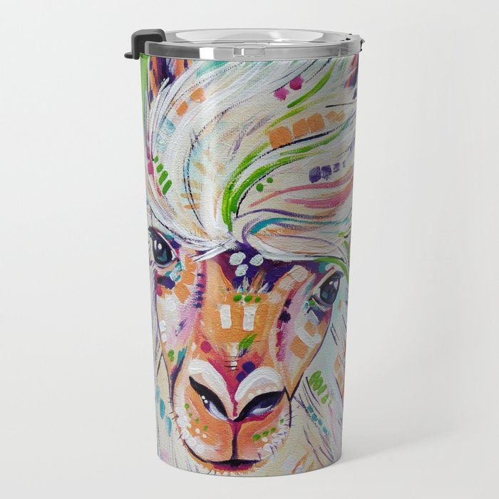 Hello - Alpaca Painting Travel Mug