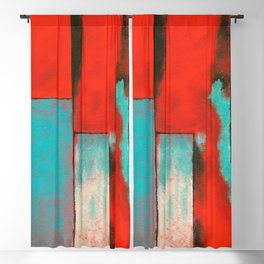 The Corners of My Mind, Abstract Painting Blackout Curtain