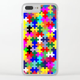 Jigsaw Pieces In Colour Clear iPhone Case