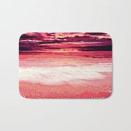 Living Coral Sunset Beach Bath Mat