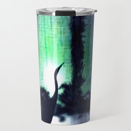 Lonely heron. Travel Mug