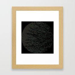 Planet Surface Circle Framed Art Print