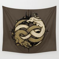 fight Wall Tapestries featuring NEVERENDING FIGHT by Letter_q