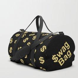 Dollar Signs Black & Gold Duffle Bag
