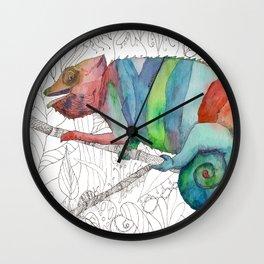 Chameleon Fail Wall Clock