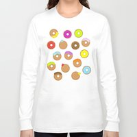 donuts Long Sleeve T-shirts featuring Donuts by Reg Silva / Wedgienet.net
