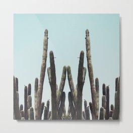 Cactus Twins Metal Print