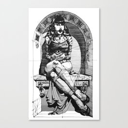 Lady in niche Canvas Print