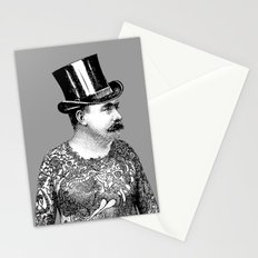 Tattooed Victorian Man Stationery Cards