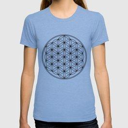 Flower of life in black, sacred geometry T-shirt