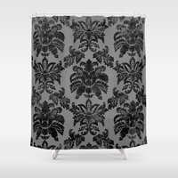 damask Shower Curtains featuring DAMASK by pike design