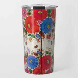 Russian Folk Art on Wood 04 Travel Mug