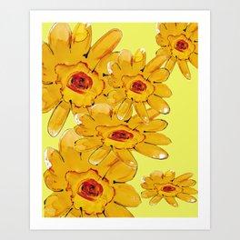 A SPLASH OF YELLOW Art Print