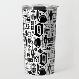 Write This Way Pattern Travel Mug