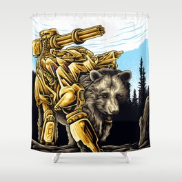 Golden Bearborg Shower Curtain