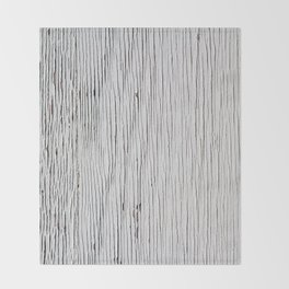 Urban Wood - White Cracked Throw Blanket