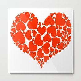 A Heart Full Of Love Red Valentine Hearts Within A Heart Metal Print