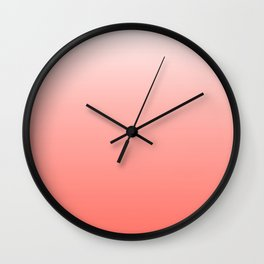 White to Coral Gradient Wall Clock