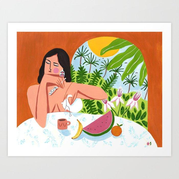 Breakfast in Byron Bay Art Print