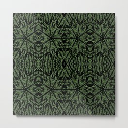 Forest Green Etch Metal Print
