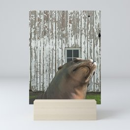 Photobomb at the Barn Mini Art Print