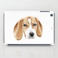 beagle iPad Cases featuring beagle by chocomocacino