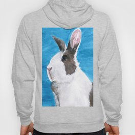 Dutch the blue-eyed rescue rabbit Hoody