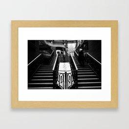 Stairway motion Framed Art Print