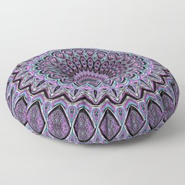 Blackberry Bliss - Mandala Art Floor Pillow