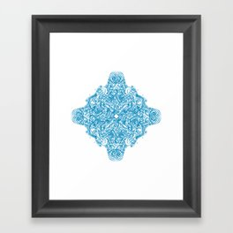 Blue Snowflake  Framed Art Print