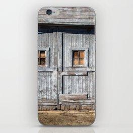 In the Door Series, wooden weather beaten textured doors iPhone Skin