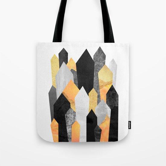 Black & Yellow Crystals Tote Bag