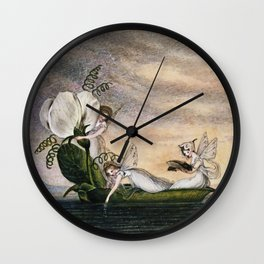 """Fairies Floating Downstream"" by Amelia Jane Murray Wall Clock"