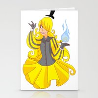 bill cipher Stationery Cards featuring Bill Cipher by LinSakurane