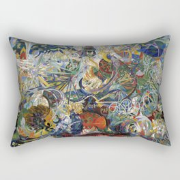 Battle of Lights, Coney Island, Mardi Gras by Joseph Stella (1914) Rectangular Pillow