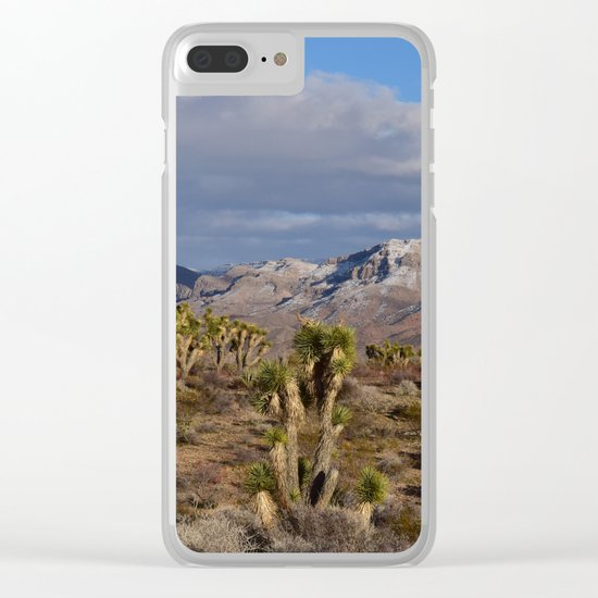 Winter in the Desert Clear iPhone Case