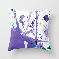 purple splash Throw Pillow