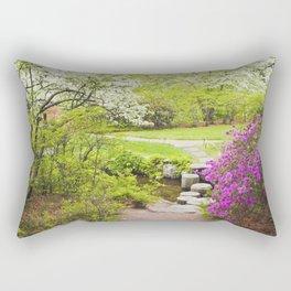 Asticou Azelea Garden In Spring Photograph on Mount Desert Maine Rectangular Pillow